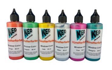 KED Window-Color Künstlerfarbe , 85 ml Flasche